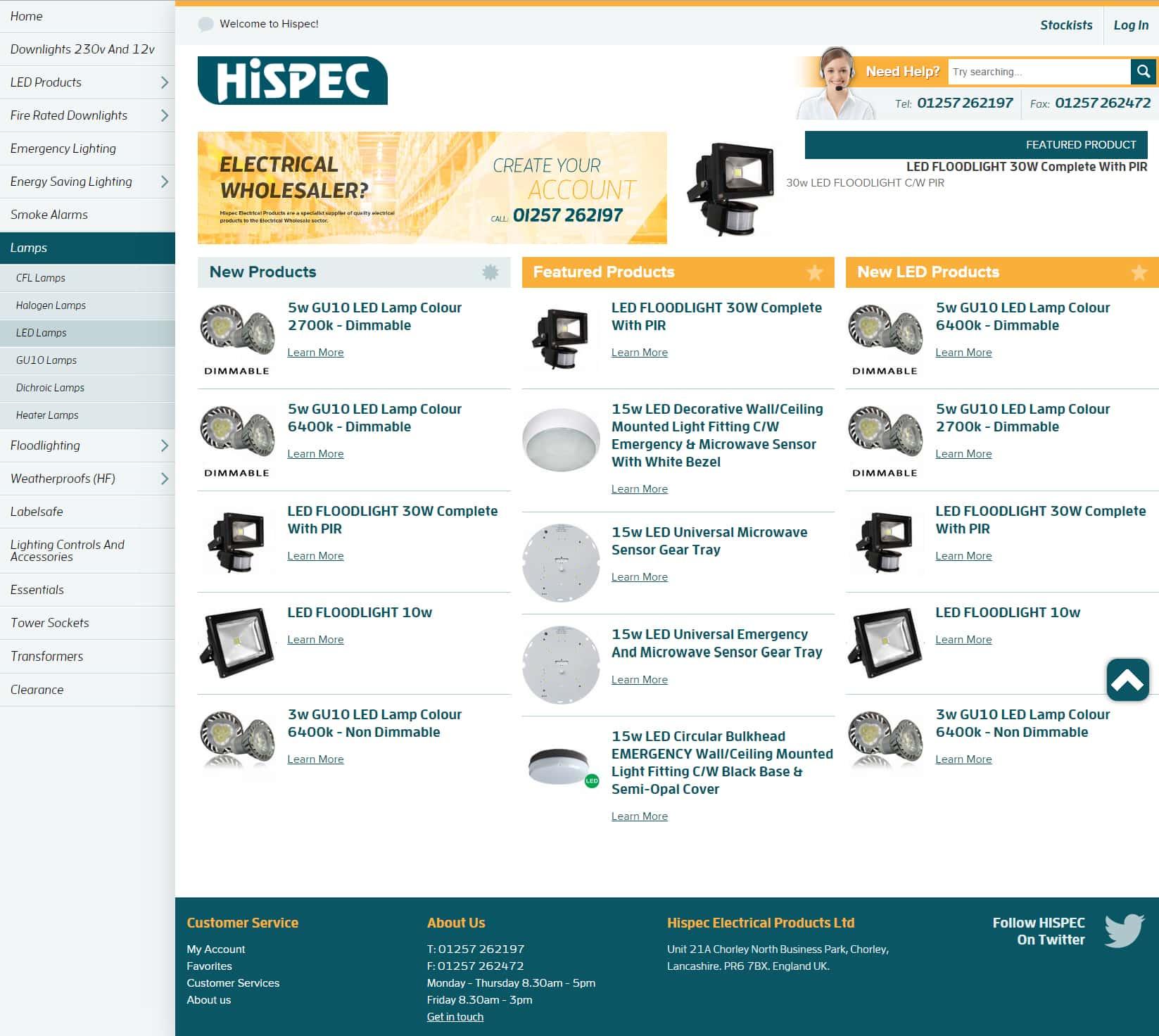 Hispec Magento ecommerce website