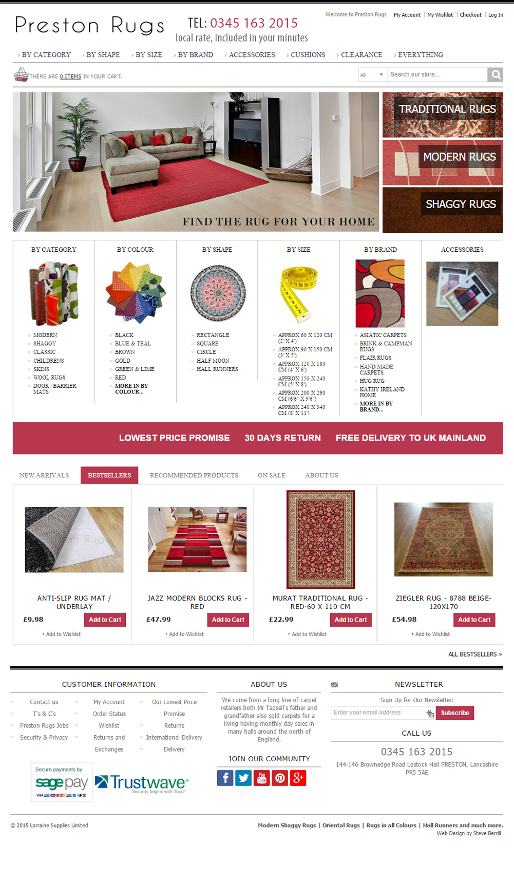 preston rugs magento site