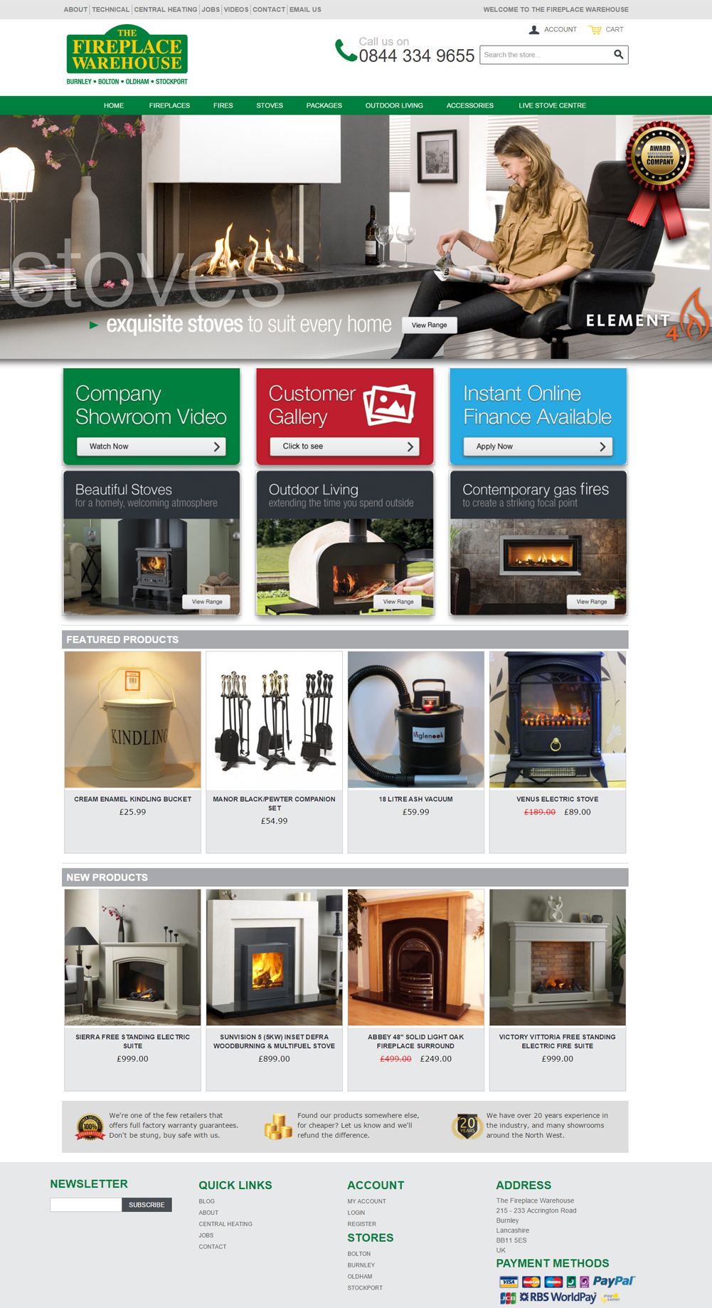 the fireplace warehouse Magento